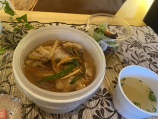 白身魚のあんかけ丼セット
